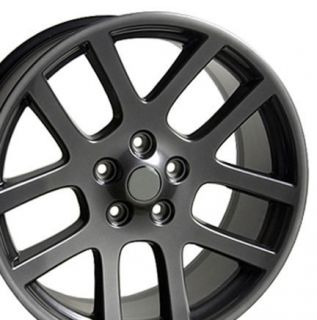 "22"" Gunmetal SRT Wheels 22x10 Rims Fit Dodge Set"