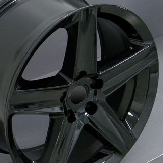 "20"" Grand Cherokee Wheels Black 20x9 Rim Fits Jeep"