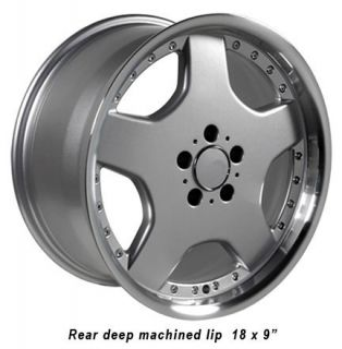 "18"" 8 9 Silver AMG Wheels Set of 4 Rims Fit Mercedes C E s Class SLK CLK 35mm"