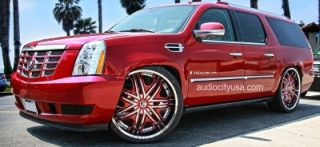 "24"" Wheels and Tires Pkg for Land Range Rover Camaro Rims"