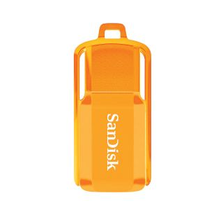 SanDisk Cruzer Switch USB 20 Flash Drive 16GB Neon Orange