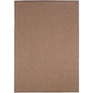 Recife Saddle Stitch Cocoa Rug (7'6 x 10'9) COURISTAN INC 7x9   10x14 Rugs