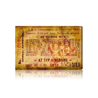 'Led Zeppelin Concert Ticket' Fine Art Canvas The Oliver Gal Artist Co. Canvas