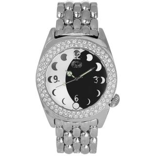 Marc Ecko Men's Black and White Eclipse Stainless Steel Watch Marc Ecko Men's Marc Ecko Watches