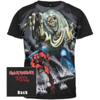 Iron Maiden   Number Of The Beast All Over T Shirt large Clothing