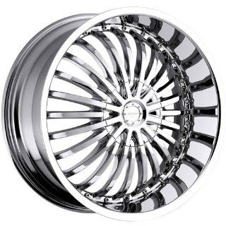 Strada Spina 22 Chrome Wheel / Rim 5x4.5 & 5x120 with a 18mm Offset and a 74.1 Hub Bore. Partnumber S16250118D Automotive