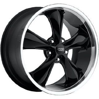 Foose Legend 20 Black Wheel / Rim 6x5.5 with a 25mm Offset and a 78.10 Hub Bore. Partnumber F138209077+25 Automotive