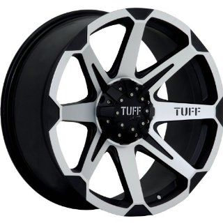 Tuff T05 16 Machined Black Wheel / Rim 8x6.5 with a 10mm Offset and a 125.0 Hub Bore. Partnumber T05EK8Q10K125 Automotive