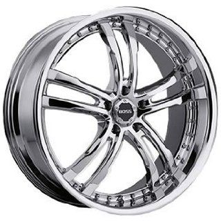 Boss 337 22 Chrome Wheel / Rim 5x120 with a 20mm Offset and a 82.80 Hub Bore. Partnumber 33760999 Automotive