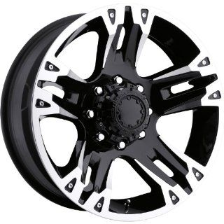 Ultra Maverick 16 Black Wheel / Rim 8x6.5 with a 10mm Offset and a 125 Hub Bore. Partnumber 235 6882B Automotive