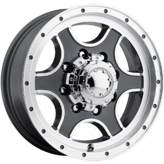 Ultra Nomad Trailer 16 Gray Wheel / Rim 8x6.5 with a 0mm Offset and a 125 Hub Bore. Partnumber 174 6681GN Automotive