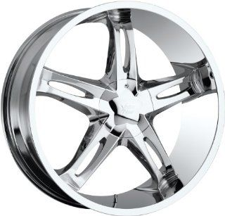 Vision Hollywood 5 20 Chrome Wheel / Rim 5x115 & 5x5.5 with a 15mm Offset and a 78.1 Hub Bore. Partnumber 435 2925C15 Automotive