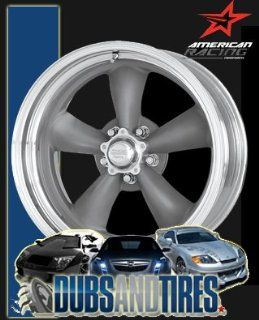 15 Inch 15x8 American Racing wheels wheels CLASSIC TORQ THRUST II Mag Gray Center Polished BARREL wheels rims Automotive