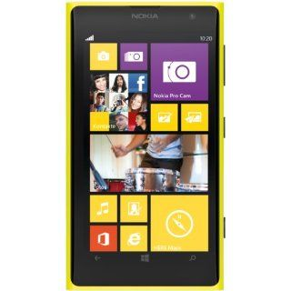Nokia Lumia 1020 Yellow Factory Unlocked GSM Phone Cell Phones & Accessories