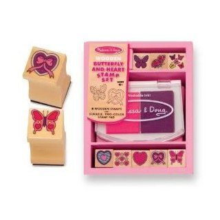 Toy / Game M & D Butterfly & Heart Stamp Set ( Beautifully detailed butterflies and hearts stamps ) Toys & Games