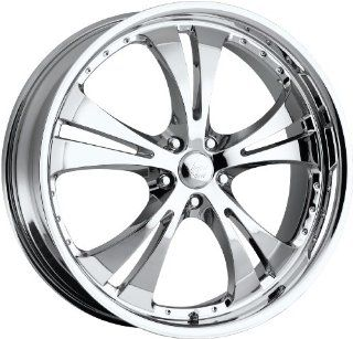 Vision Shockwave 17 Chrome Wheel / Rim 5x115 with a 42mm Offset and a 74.1 Hub Bore. Partnumber 539D7790C42 Automotive