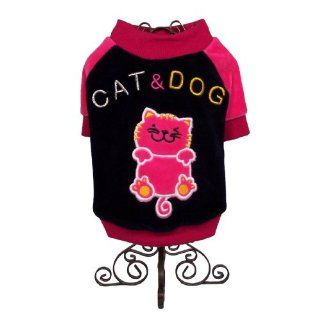 Dog and Cat Cute High Quality Baseball T SHIRT   Small   Black and Pink   Mommy, I am all Ready for Sunday Outdoor Activities   Only 1 Left  Pet Shirts