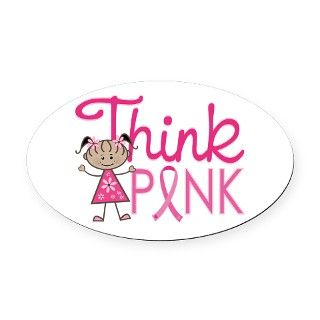 Think Pink Oval Car Magnet by 1512blvd_awareness_tshirts