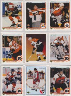 Philadelphia Flyers 1990 91 Upper Deck Team Set w/ High Numbers (27 Cards) (Premier Upper Deck Hockey Issue) (Mike Ricci) (Bobby Clarke)