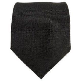 100% Silk Woven Black GrosGrain Solid Extra Long Tie at  Men�s Clothing store