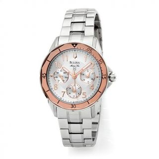 Bulova Ladies' Marine Star 2 Tone Stainless Steel Dress Watch