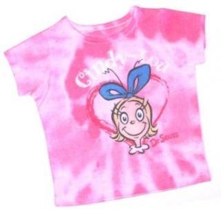 Dr. Seuss Cindy Lou Who Tie Dyed Infant Girls Top Tee Shirt Pink 12M 24M (24M) Clothing