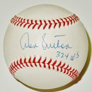 Don Sutton Autographed / Hand Signed Official Baseball with 324 WINS Inscription   Sports Collectibles