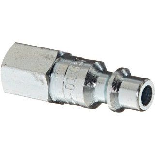 "Dixon Valve DCP2021 Steel Air Chief Industrial Interchange Air Fitting, Quick Connect Plug, 1/4"" Coupler x 1/8"" NPT Female Thread, 37 CFM Flow Rating"