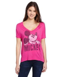 Junk Food Women's Hot Mickey Mouse Oversized T Shirt Large Pink Clothing