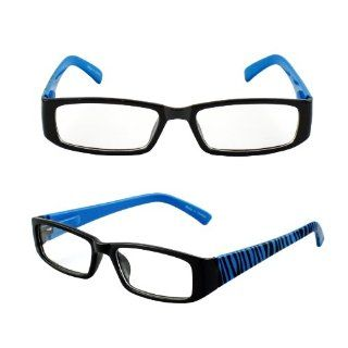 Hotlove Square Fashion Sunglasses P1508 Blue Zebra Clear Lens for Men and Women (Can use as Optical Frame)