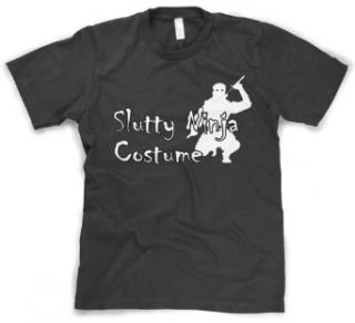 Slutty Ninja Costume T Shirt funny Halloween costume tee Clothing