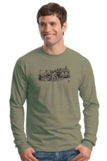 Keep On Truckin' Apparel, Blues Tour, Men's Cotton Long Sleeve T shirt, an R. Crumb image Clothing