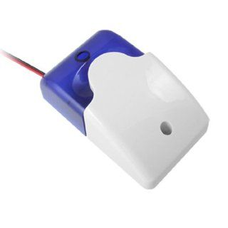 Security 12V Mini Strobe Siren Light Alarm White Blue Camera & Photo