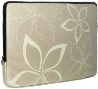 13 inch Beige Stylish Abstract Floral Beige Laptop Sleeve Computer Notebook Carrying Case for Apple MacBook Air 13, Dell, Acer, Samsung Computers & Accessories