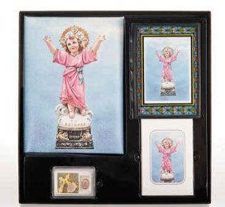 Divine Child Cristo Series Memorial Package Includes Register Book, Book Mark, Crystal Rosary, Prayer Plaque, 50 Acknowledgement Cards, & 104 Memorial Prayer Cards Cromo Nb Artwork   Milan, Italy  Other Products