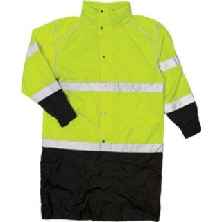 ML Kishigo RWJ108 Brilliant Series High Viz Long Rain Coat, Fits Large and Extra Large, Lime
