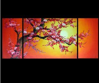 Cherry Blossom Abstract Modern Oil Painting Hand Painted Canvas Wall Art Framed 116