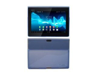 iShoppingdeals   for Sony Xperia Tablet S (SGPT121US/SGPT122US/SGPT123US) Rubber Protective Skin Cover Case, Blue Computers & Accessories