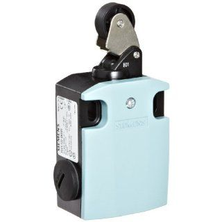 Siemens 3SE5 122 0KE01 International Limit Switch Complete Unit, Roller Lever, 56mm Metal Enclosure, Metal Lever, 22mm Plastic Roller, Slow Action Contacts, 1 NO + 2 NC Contacts