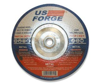 US Forge 710 Grinding Wheel TYPE #28 Abr, 7 Inch by 1/4 Inch by 5/8 Inch 11   Power Sander Accessories