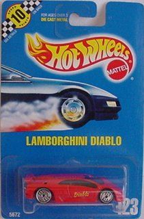 Hot Wheels 1990 RED Lamborghini Diablo Coll #123 164 Scale Toys & Games