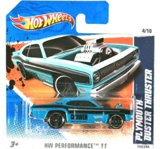 PLYMOUTH DUSTER THRUSTER (Aqua Blue Crower) * 2011 Hot Wheels #134/244 HW Performance 11 #4/10 164 scale car on SHORT CARD