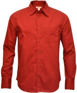 True Religion Brand Jeans Men's L/S Casual Dress Shirt Chianti Red at  Men�s Clothing store