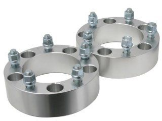"(2) 2.0"" 5x5.5 to 5x5.5 Wheel Spacers 1/2"" studs Dodge Ram 1500 Ford F 100 Bronco Jeep CJ (5x139.7) Automotive"