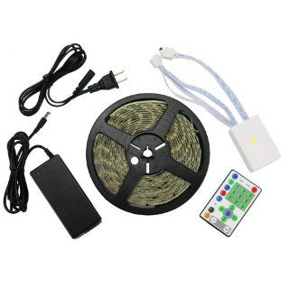 Waterproof Magic Optical Multi color 5050smd 270LED 16.4 Feet Flexible LED Car Light Strip, with Power Supply Adapter and IR Remote Controller Patio, Lawn & Garden