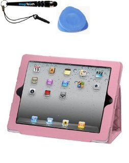 IMAGITOUCH(TM) 3 Item Combo APPLE iPad 2 Luxury Pink Quilted MyJacket (137) (Stylus pen, Pry Tool, Phone Cover) Cell Phones & Accessories