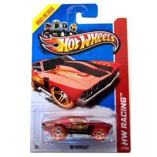 Hot Wheels   '69 Chevelle (Translucent Red)   HW Racing 2013   137/250 [Scale 164] Toys & Games