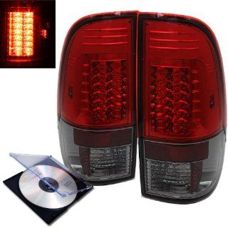 RXMOTOR 1997 2003 FORD F150 F250 LED TAIL LIGHTS REAR BRAKE SIGNAL LAMPS + INSTALL GUIDE Automotive