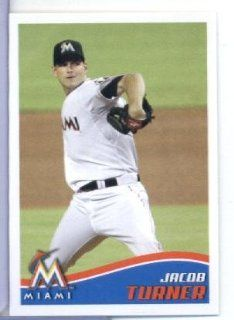 2013 Topps MLB Baseball Sticker # 146 Jacob Turner Miami Marlins Sports Collectibles