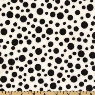 60'' Wide Minky Polka Dot Black/White Fabric By The Yard Arts, Crafts & Sewing